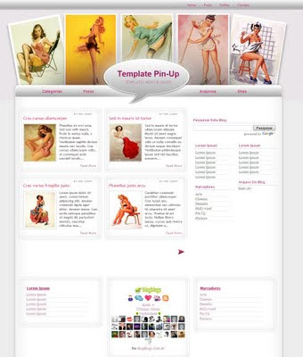 Template pinup blogger