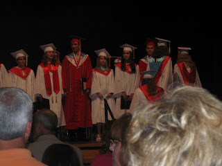 This is of the Baccalaureate ceremony, but my expression gives you   an idea of how I felt on Graduation Day.