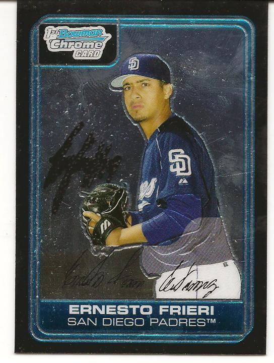 Ernesto (Guiterrez) Frieri was signed as an amateur free agent by the Padres ...