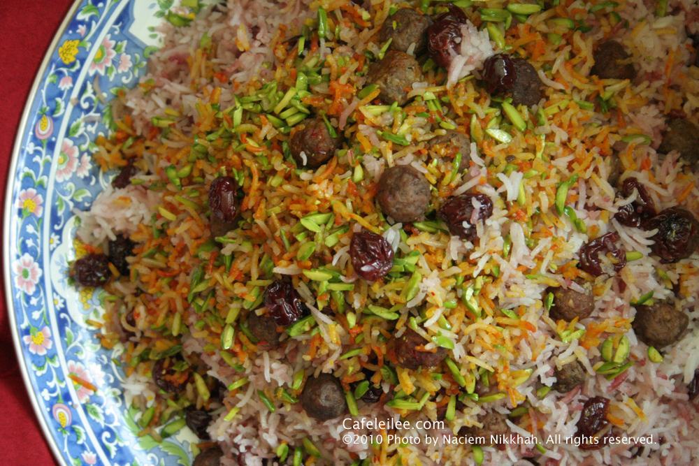 ... Persia to Bay Area: Sour Cherry Rice (Albaloo Polow) آلبالو