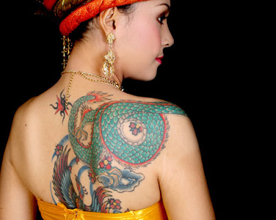 Sexy girl tattoo design - dragon, flowers, love, heart tattoos 04