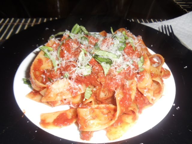 ... Life in Food!: Pappardelle with Vodka Sauce and Italian Sausage