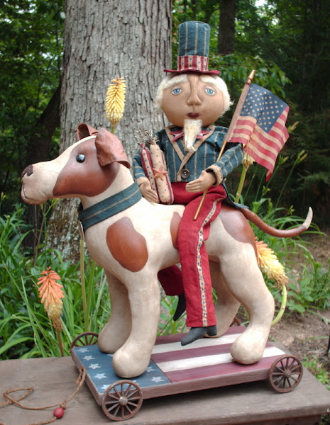 Uncle Sam & Rocket Dog Pull Toy