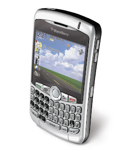 Blackberry curve 8300 GPRS top angle Dream Phone