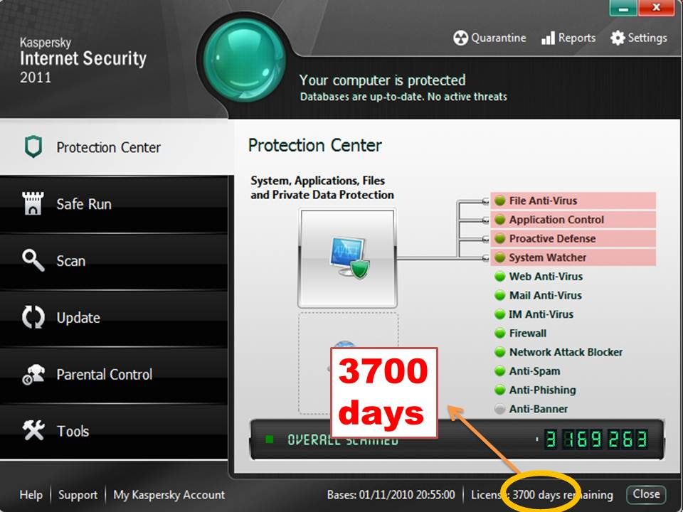 Kaspersky Antivirus Full Lifetime License key