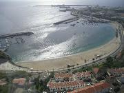 Vista aérea da praia de Sines