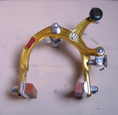 nos gold-anodized dia-compe mx-1000 bmx brake caliper