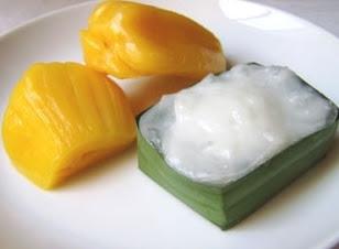 Kha nom Ta ko Ka noon Original Dessert in Thailand