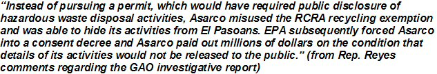 McMurray research of Asarco El Paso TX smelter: political, water, land, air impacts