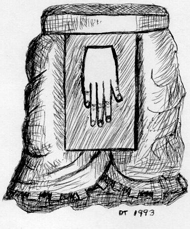 Redrawing of Mayan apron hand symbol, Aug. 1880
