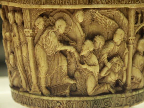 Christ lifting Adam out of hell, Angels assist Christ