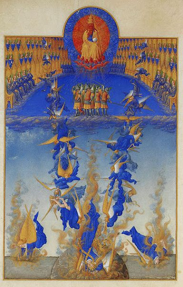 The Fall of the Rebel Angels from Les Très Riches Heures du duc de Berry (miniature), c. 1410