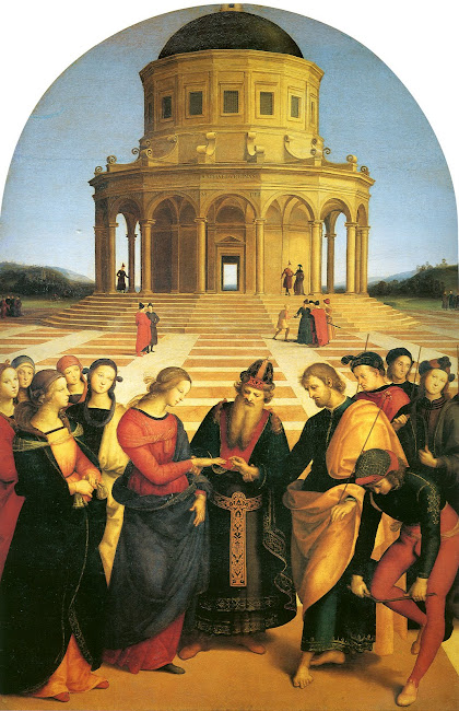 Marriage of the Virgin - Raphael 1504 AD Milan - Pinacoteca di Breva