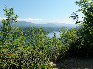View of Smoky Mountains and Fontana Lake from Tsali