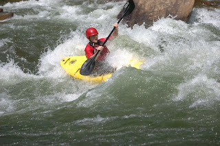Kevin going through double trouble rapid on the Ocoee River