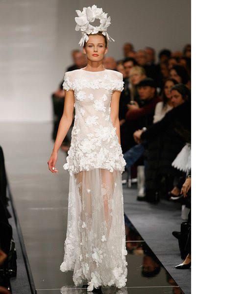 2014 e Flores nos vestidos de noiva