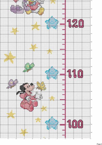 Patrones medidores infantiles en punto de cruz - Imagui