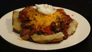 Chili Topped Potatoes