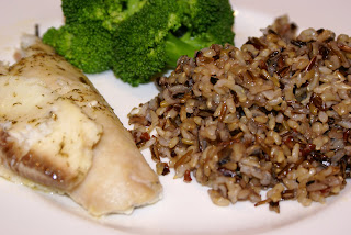 Fish with Rice Blend and Broccoli