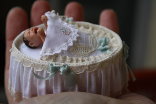Miniature baby, ooak, 1/12 scale