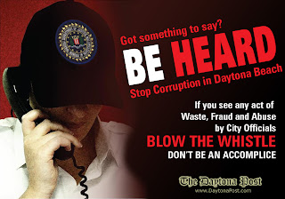 BE HEARD - Blow the Whistle on Daytona Beach Corruption