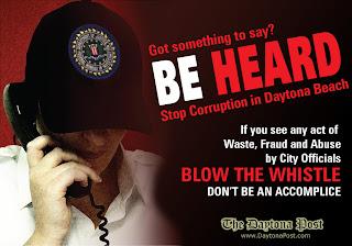 BE HEARD - Blow the Whistle on Daytona Beach Corruption