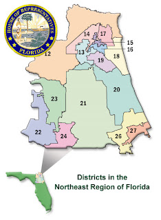 Florida House, Northeast Region Districts