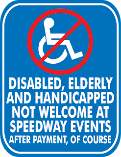 Handicapped Abuse at Daytona Speedway