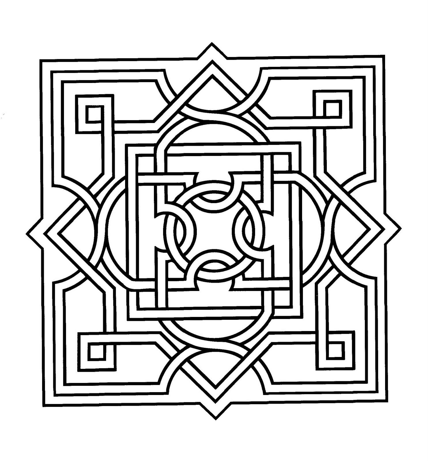Mandalas Para Pintar: Mandala árabe III