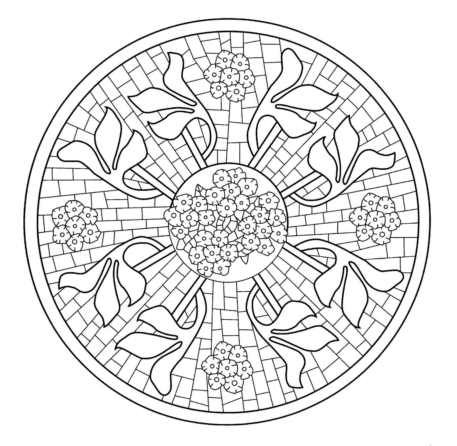 Mandalas Para Pintar: Mosaico Casa Navàs