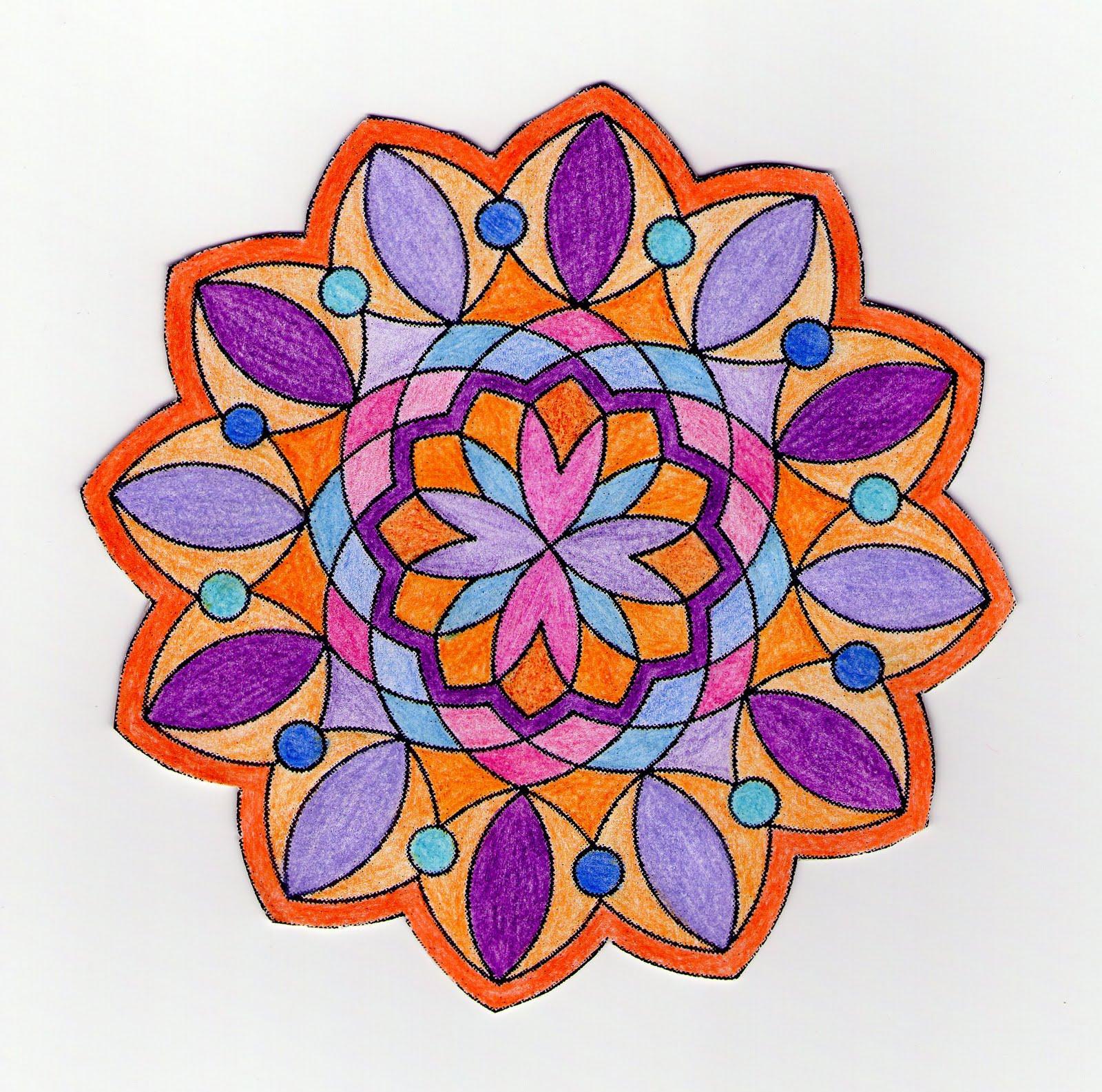 Mandalas Para Pintar: Mandala para colorear con ejemplo
