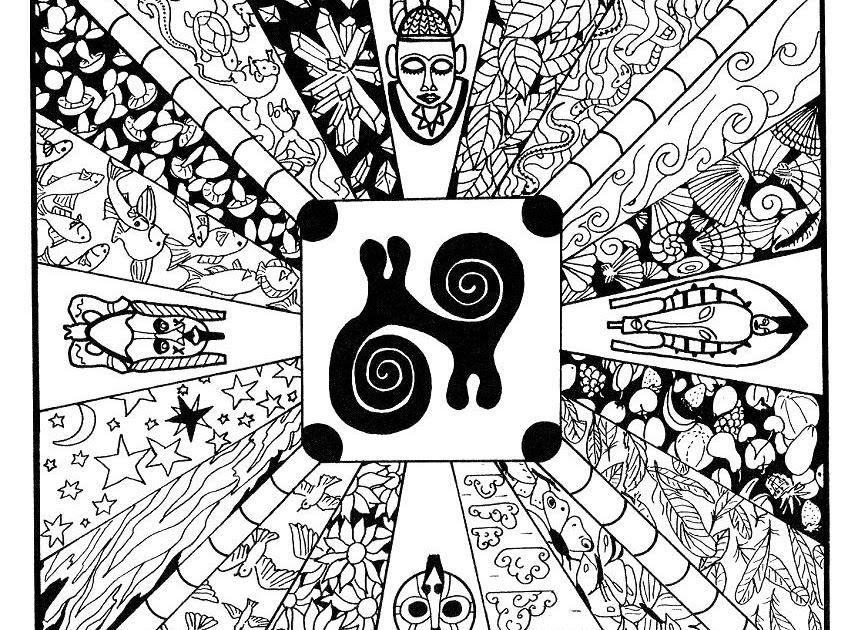 Mandalas Para Pintar: Mandala africano