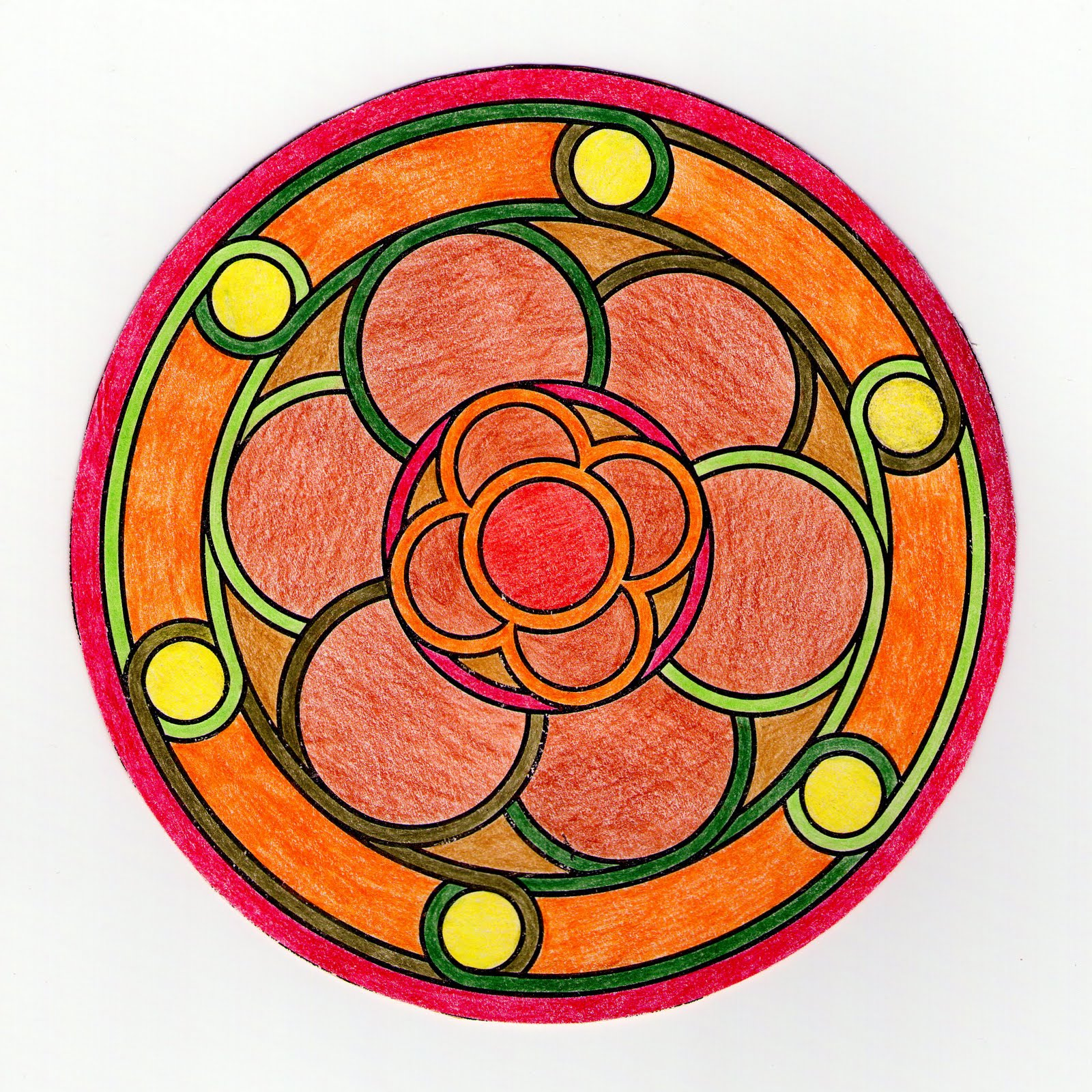 Mandalas Para Pintar Estanque con flor pintado