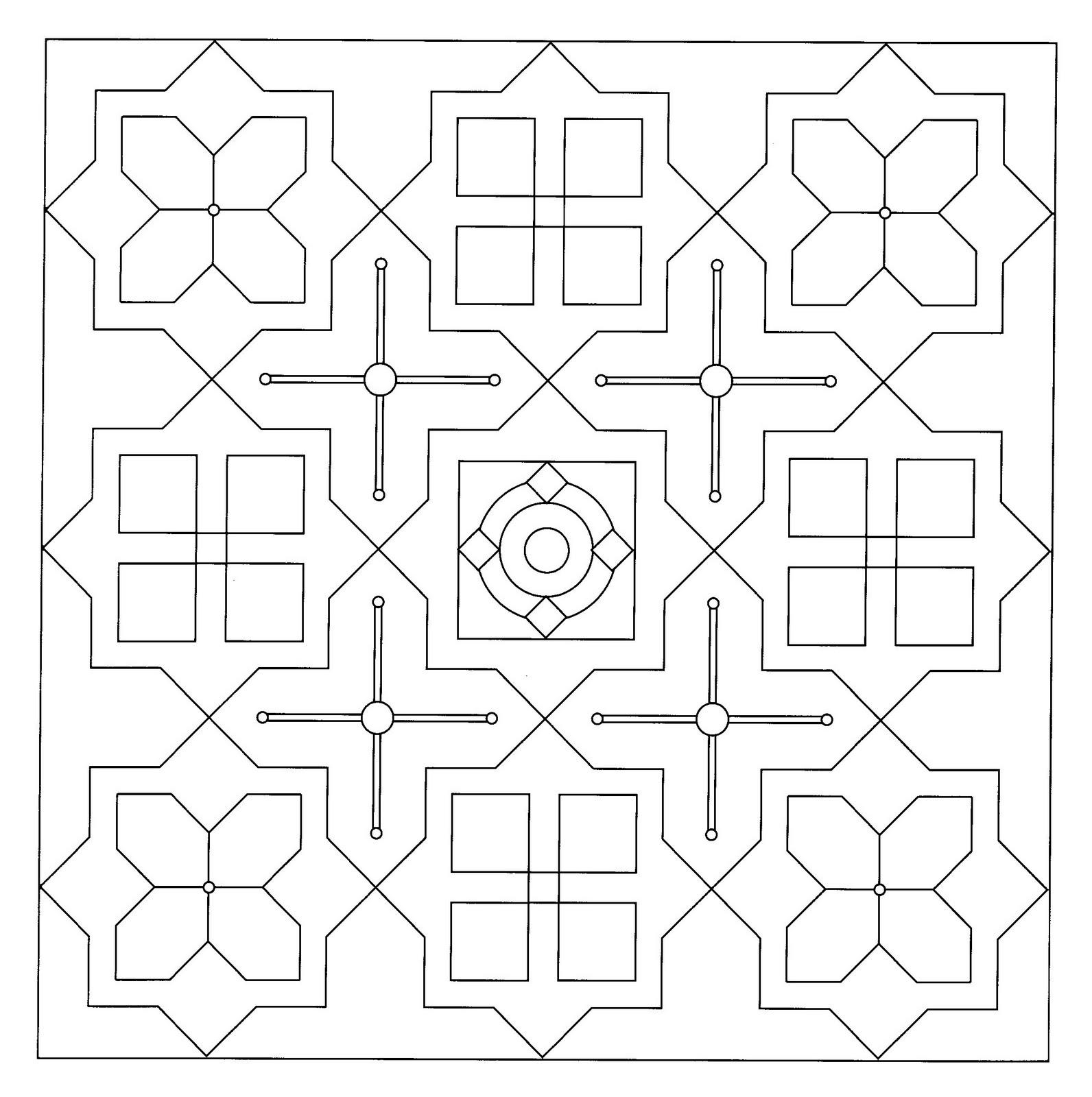Mandalas Para Pintar: Mandala con estrellas y cruces