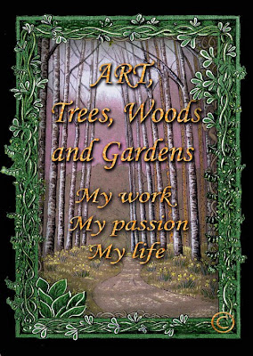 North East artist Ingrid Sylvestre - Art Trees Woods and Gardens - Durham artist UK