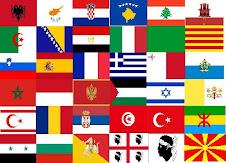 Totes les banderes de la Mediterrània