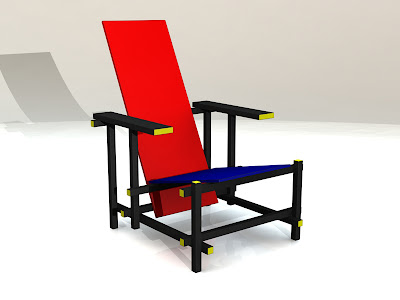 Curso dise o industrial ejercicio silla roja y az l for Silla roja y azul