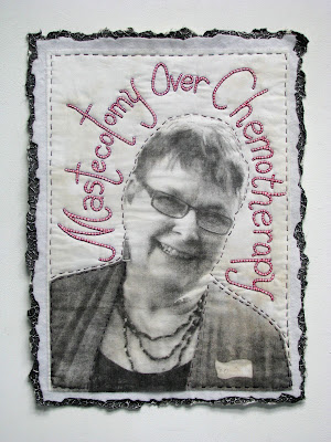 Xylene photo transfer on teastained muslin 25 x 19 unframed 31 x 25
