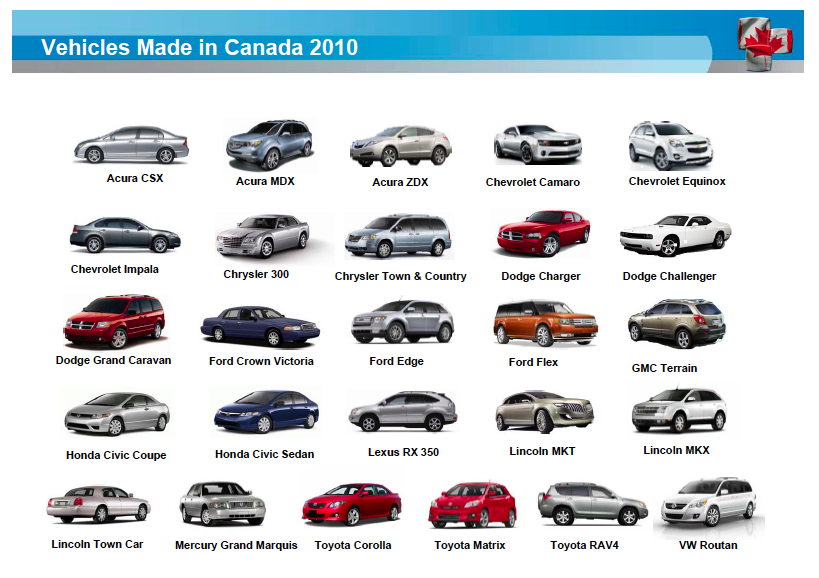 25 Vehicles Made In Canada In 2010 Gcbc
