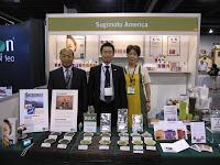 At the world tea expo we showed customers our famous Shizuoka Japanese teas, offering our Matcha, Genmaicha, Sencha, Gyokuro, Kukicha, and Hojicha teas