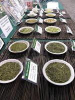 Here you can see more closely our Japanese Green Teas from Shizuoka, Japan including our Sencha Fukamushi, Sencha Chumushi, Genmaicha with Matcha, Genmaicha without Matcha, and Hojicha and Kukicha teas.