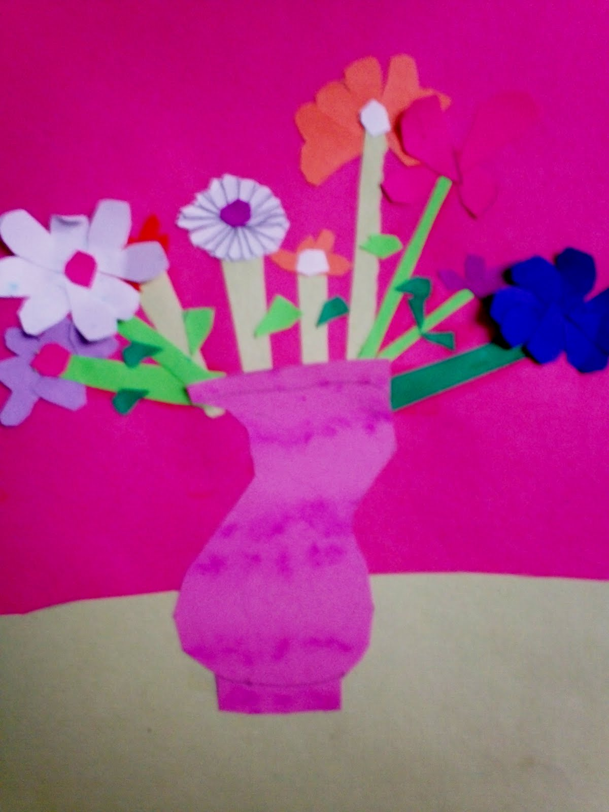 Art With Mr E Collage Flowers Vases 2nd