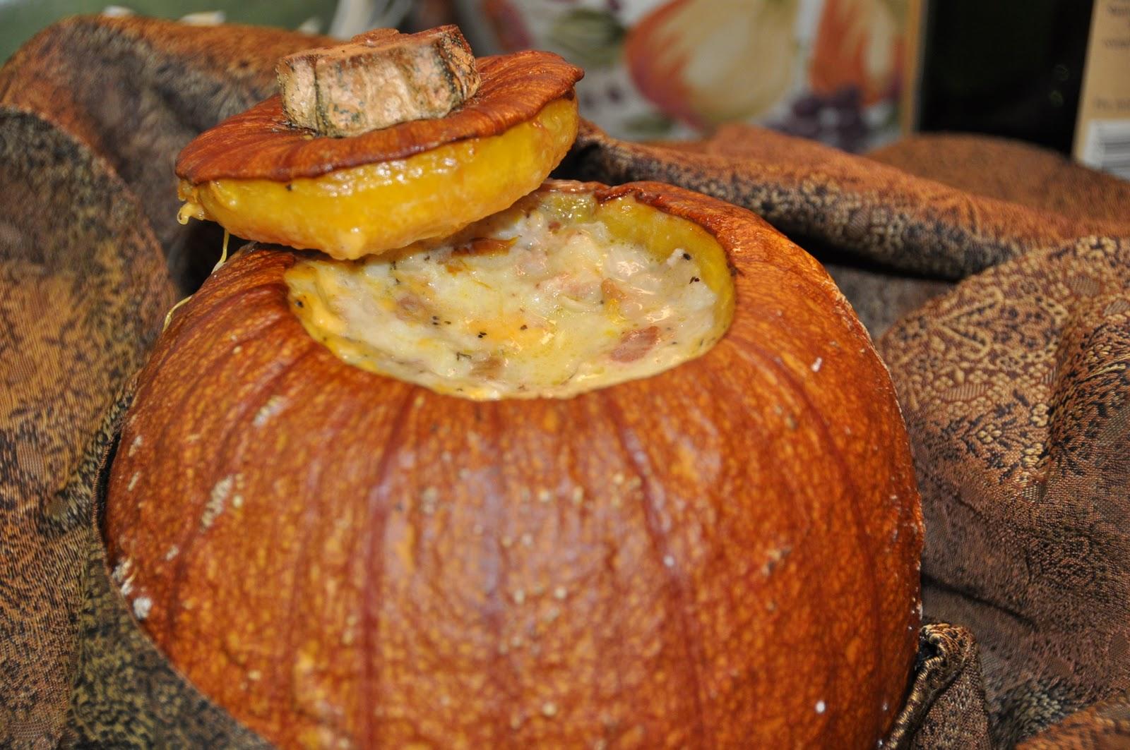 heard about this stuffed pumpkin recipe on npr as dorie greenspan ...