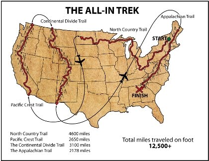 The Smoky Mountain Hiking Blog The Initiative Trekking 12500 Miles