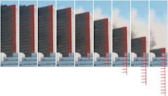 WTC7 : phases de l'effondrement
