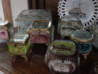 Antique Hunter Blog personal collection of antique Victorian Jewellry Boxes
