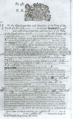 52 Ancestors: 5th Great Grandpa Ordered Out of His Parish with Wife and Family in 1778