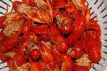 A plate full of delicious crawdads
