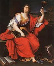 DEUSA CLIO - Pintura do século XVII, de Pierre Minard.