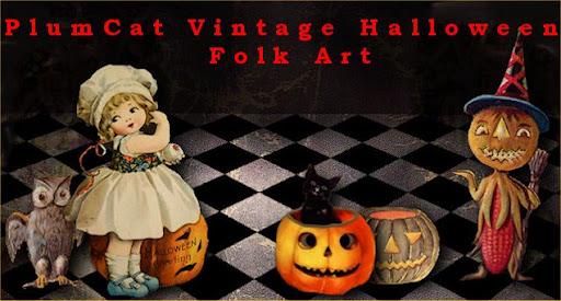 PlumCat's Halloween Folk Art